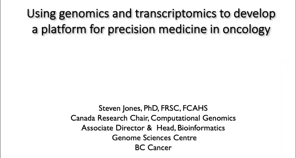 ICG-15 | Using Genomics and Transcriptomics to Develop a Platform for Precision Medicine in Oncology