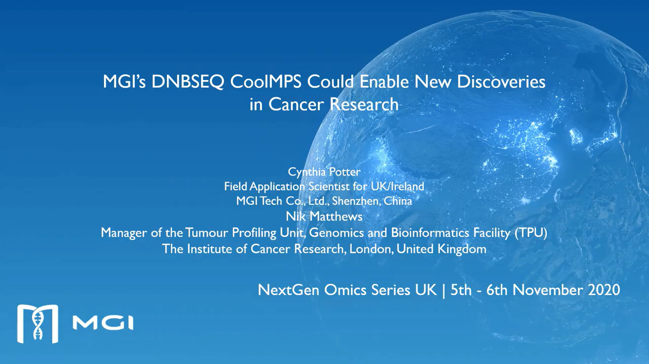 NextGen Omics Series | MGI's DNBSEQ CoolMPS Could Enable New Discoveries in Cancer Research